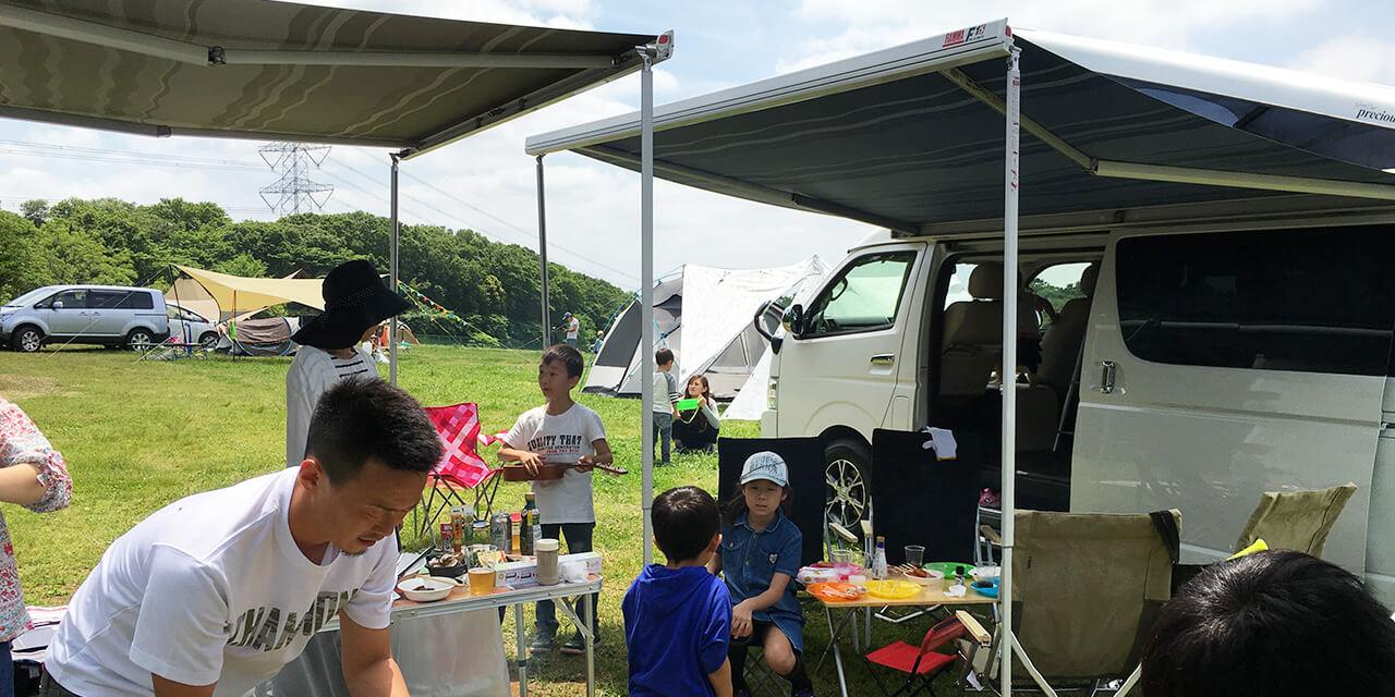 キャンピングカーで初心者キャンプ