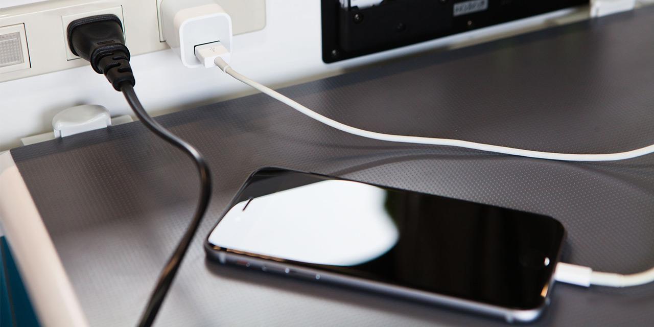 携帯やカメラの充電も安心