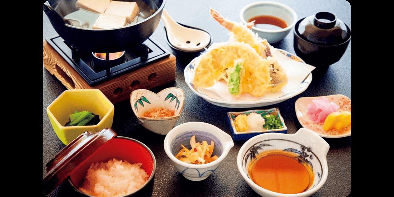 美食とともに富士の絶景を堪能