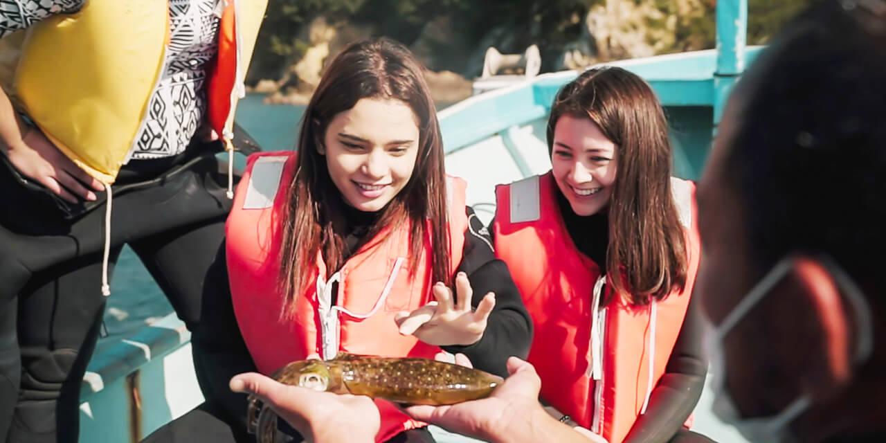 真珠養殖で有名な三重県の英虞湾ならではの漁師体験