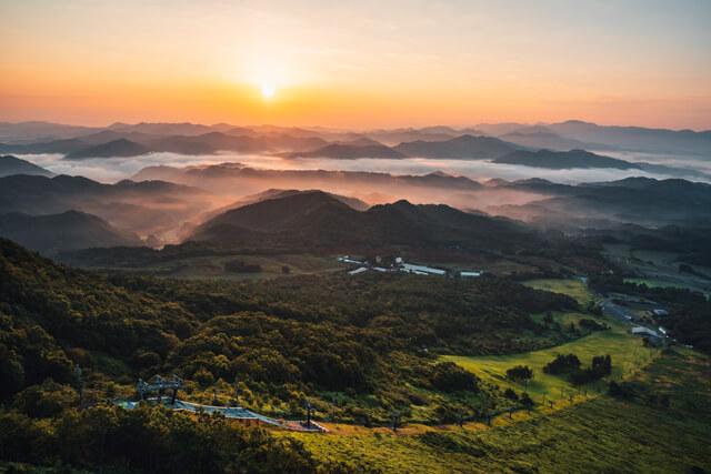 三瓶山頂さんべ荘 天空の朝ごはん