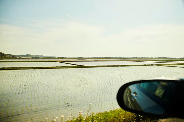 九十九里浜の絶景スポットを巡り、田園風景の中を駆け抜ける