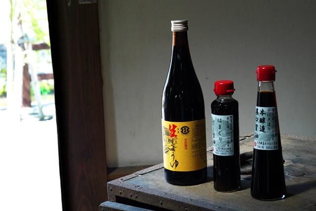 佐原の老舗良品の例①:はまぐりだし醤油など地元の醤油