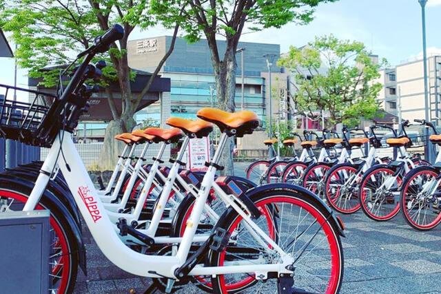 公共の駐輪場やコンビニ、スーパー、観光地など一時的に駐輪可能