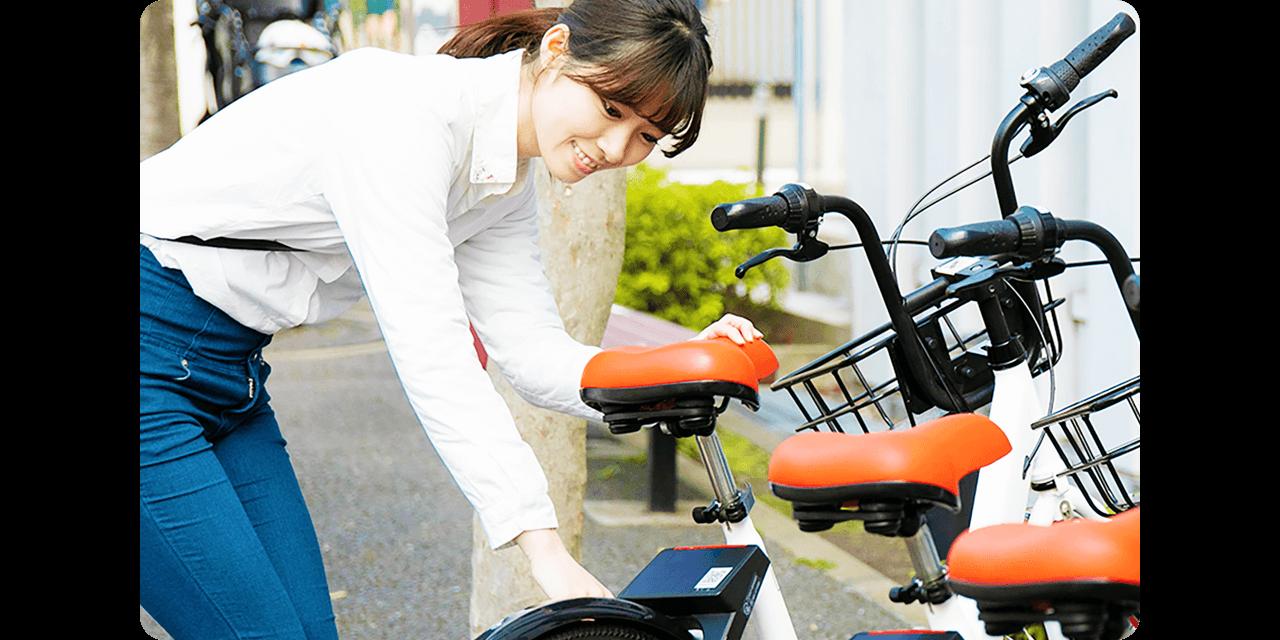 PiPPAの自転車には便利な一時駐輪機能が搭載