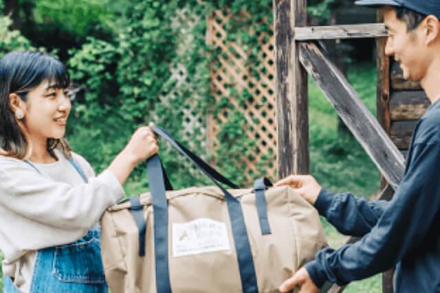 レンタル品は自宅やキャンプ場など、指定の場所に配送