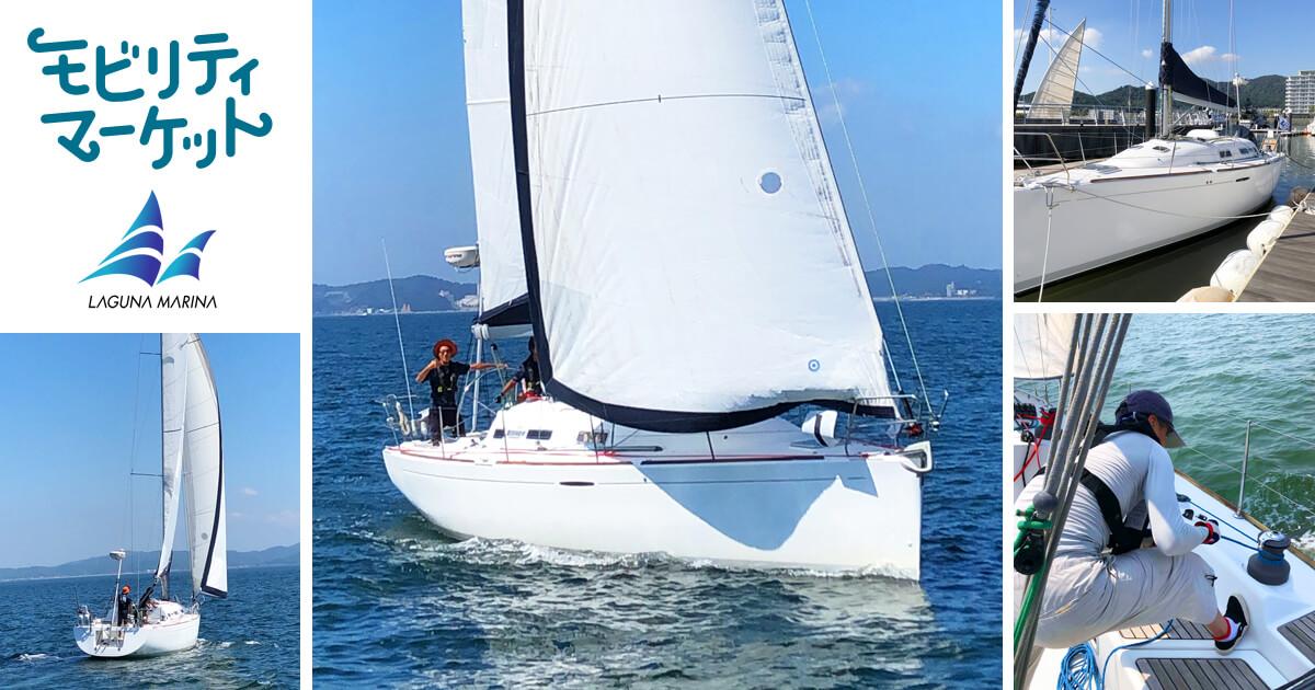ロープを操り、舵を握り、ヨットに挑戦