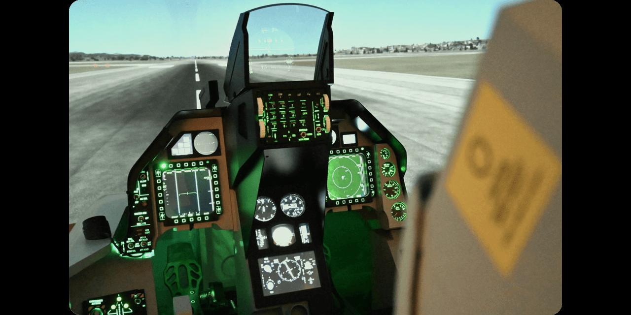 国内初の戦闘機フライトシミュレーター
