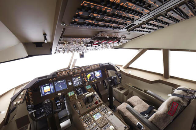 フライトシミュレーターは、ボーイング787と747の2種